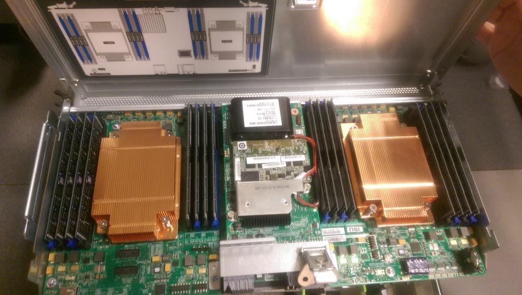 IMAG0804 1024x579 Pictures of Racking Cisco UCS C3160 Storage Server