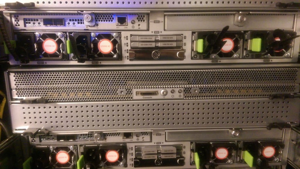 IMAG0810 1024x579 Pictures of Racking Cisco UCS C3160 Storage Server