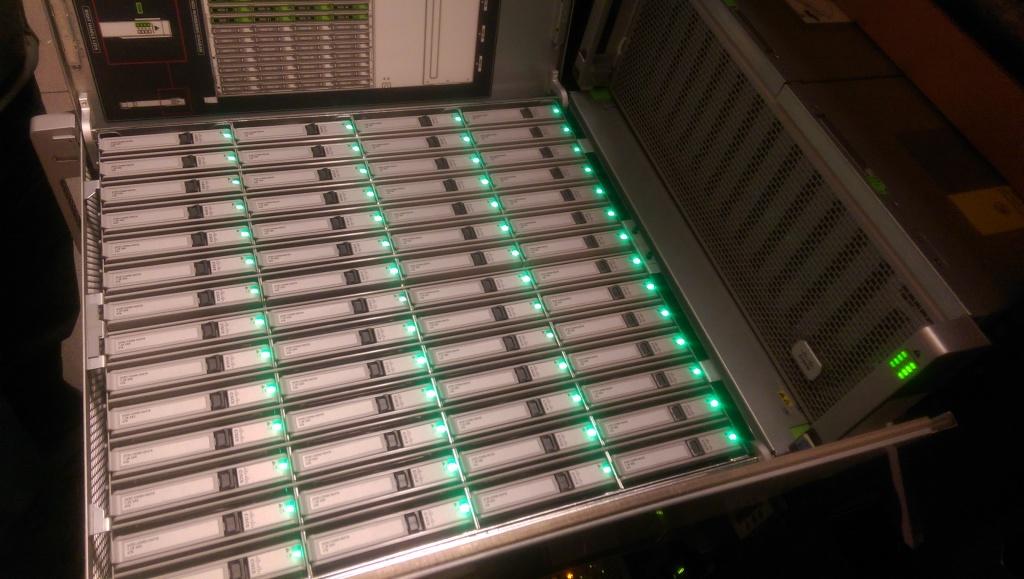 IMAG0830 1024x579 Pictures of Racking Cisco UCS C3160 Storage Server