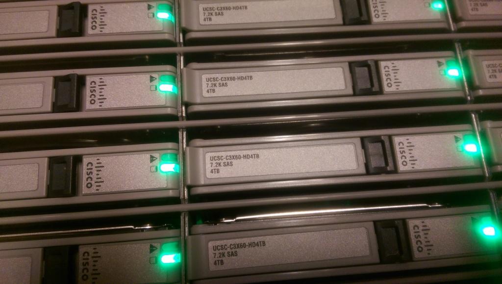 IMAG0831 1024x579 Pictures of Racking Cisco UCS C3160 Storage Server