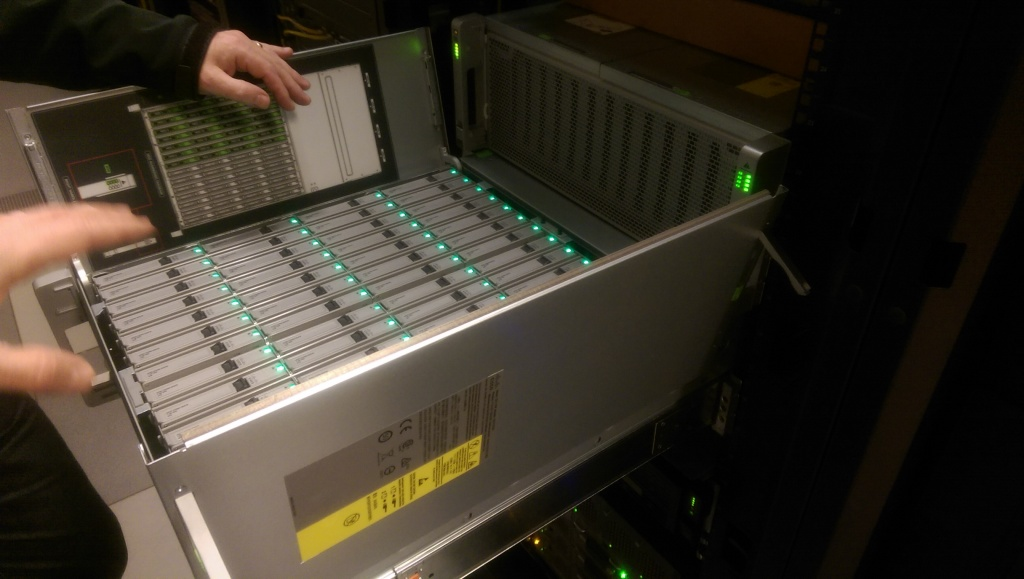 IMAG0833 1024x579 Pictures of Racking Cisco UCS C3160 Storage Server